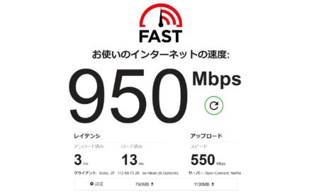 インターネット 回線 の 速度 テスト